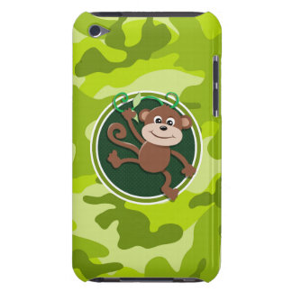 Monkey bright green camo camouflage Case-Mate iPod touch case