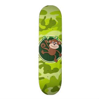 Monkey bright green camo camouflage skateboard decks