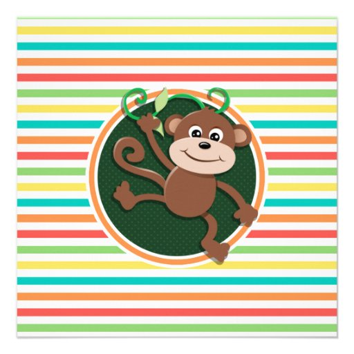 Monkey; Bright Rainbow Stripes Announcement