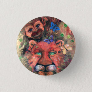 Monkey business. 1 inch round button