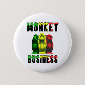 Monkey business 2 inch round button