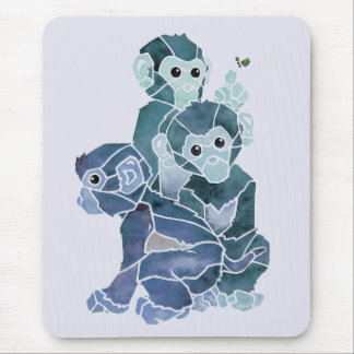 """""""Monkey Business 2"""" Mouse Pad"""