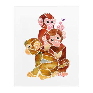 """Monkey Business"" Acrylic Wall Art"