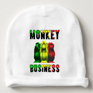 Monkey business baby beanie