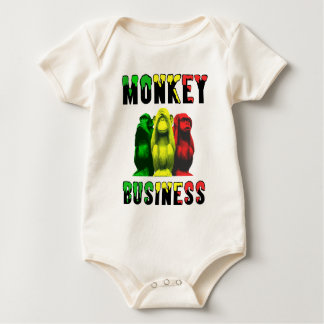 Monkey business baby bodysuit