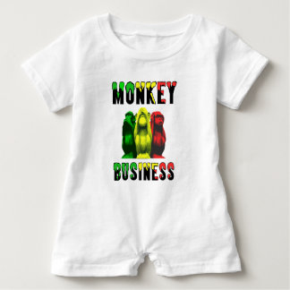 Monkey business baby romper