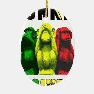 Monkey business ceramic ornament