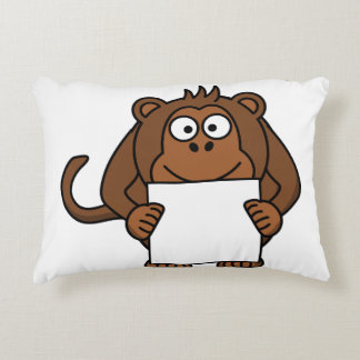 Monkey business decorative pillow