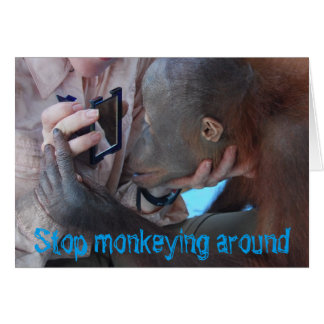 Monkey Business Fountain of Youth Birthday Card