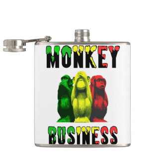 Monkey business hip flask