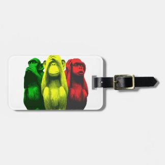 Monkey business luggage tag