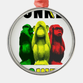 Monkey business metal ornament