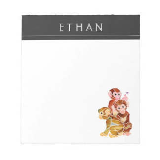 """Monkey Business"" Notepad"