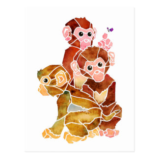 """Monkey Business"" Postcard"