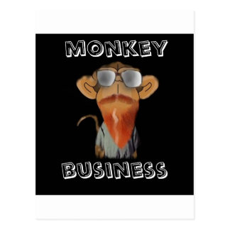 monkey business postcard