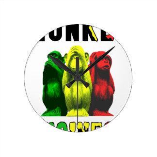 Monkey business round clock