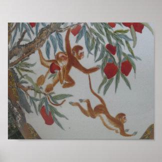 MONKEY business Trees Fruit Pl Interior Decoration Poster