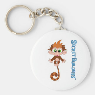 Monkey Button Keychain