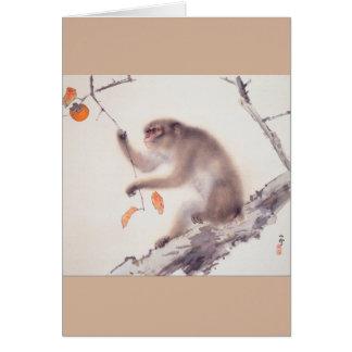 Monkey by Hashimoto Kansetsu - Year of The Monkey Card