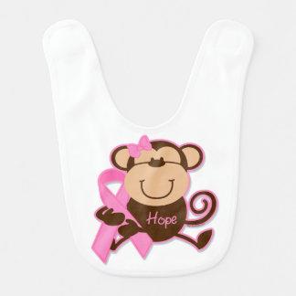 Monkey Cancer Hope Bib