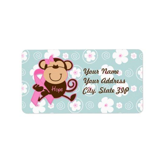 Monkey Cancer Hope Label