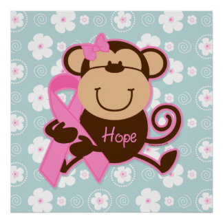 Monkey Cancer Hope Poster