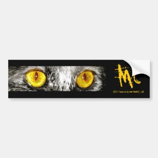 Monkey Cat Bumper Sticker