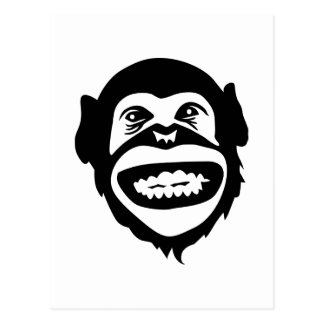 Monkey chimpanzee smile postcard