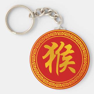 Monkey Chinese Zodiac Symbol Keychain