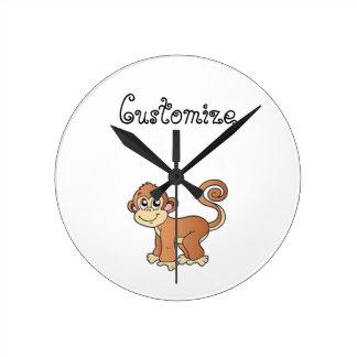 Monkey Collection Round Clock