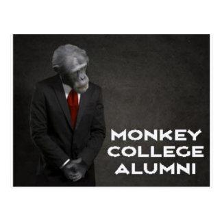 Monkey College Alumni Association Postcard