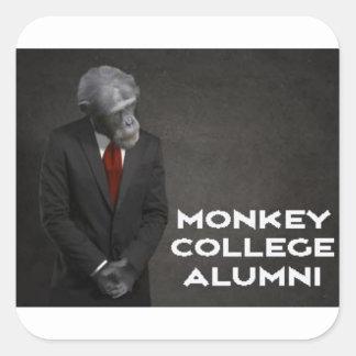 Monkey College Alumni Association Square Sticker