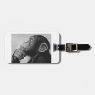 monkey college luggage tag