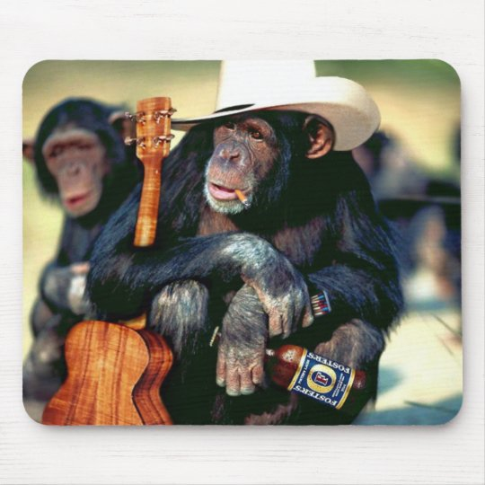 Monkey_Cowboy Mouse Pad