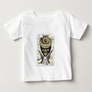 monkey cowboy skull with twin guns baby T-Shirt