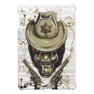 monkey cowboy skull with twin guns cover for the iPad mini