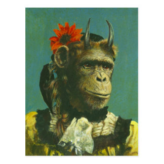 Monkey Demon Postcard