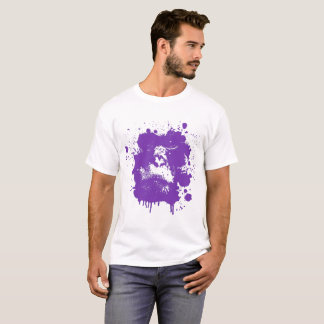 Monkey Design T-Shirt Purple