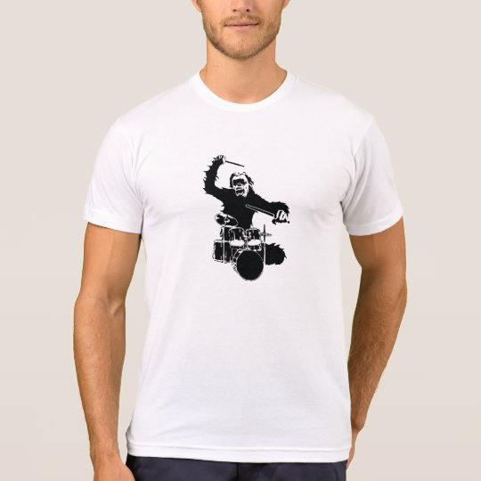 Monkey Drummer Funny T-Shirt