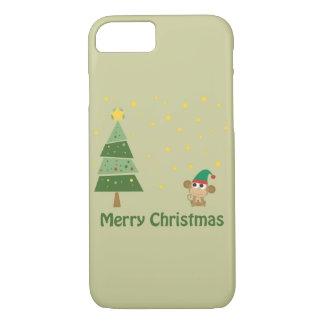 Monkey Elf Christmas Scene iPhone 7 Case