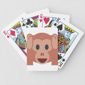 Monkey emoji bicycle playing cards