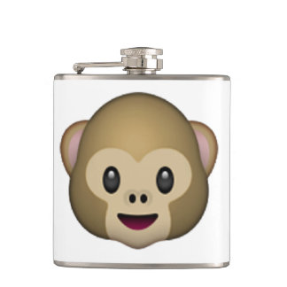 Monkey - Emoji Hip Flask