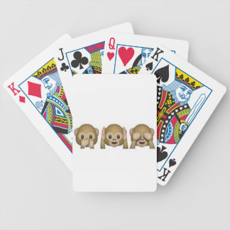 Monkey-Emoji - laughing monkey cartoon funny Bicycle Playing Cards