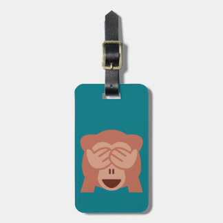 Monkey Emoji Luggage Tag