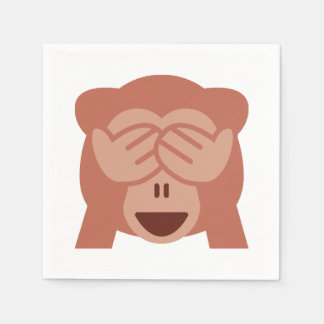 Monkey Emoji Paper Napkins