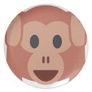 Monkey emoji plates