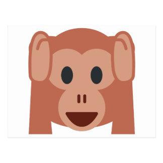 Monkey emoji postcard