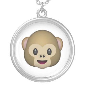 Monkey - Emoji Silver Plated Necklace