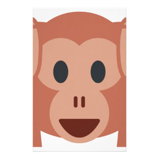 Monkey emoji stationery