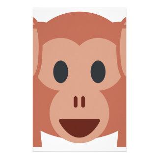 Monkey emoji stationery design